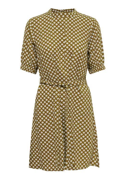 Jacqueline de Yong Kjole JDY Lion 2/4 Highneck Dress Golden Brown Front