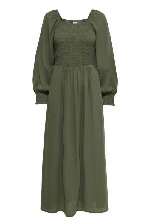 JDY - Kjole - Mina 3/4 Smock Ankle Dress - Kalamata