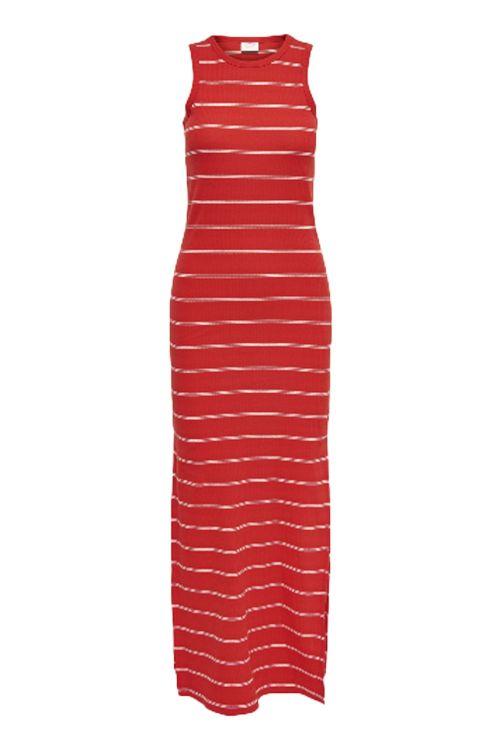 Jacqueline de Yong Kjole Jdy Nevada Icon Long Dress High Risk Red Cloud Dancer Front
