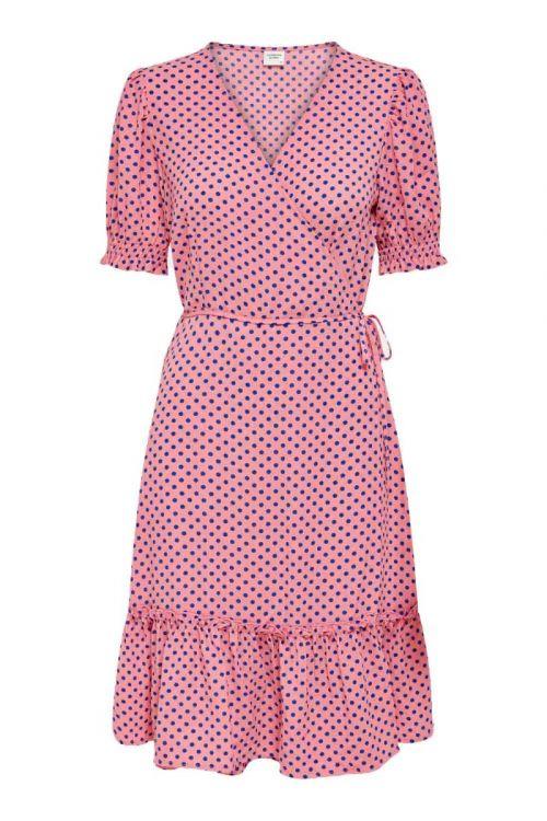 JDY - Kjole - Piper 2/4 Wrap Smock Dress - Geranium Pink