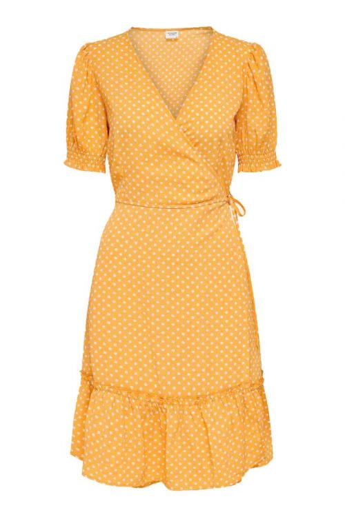 JDY - Kjole - Piper 2/4 Wrap Smock Dress - Golden Apricot
