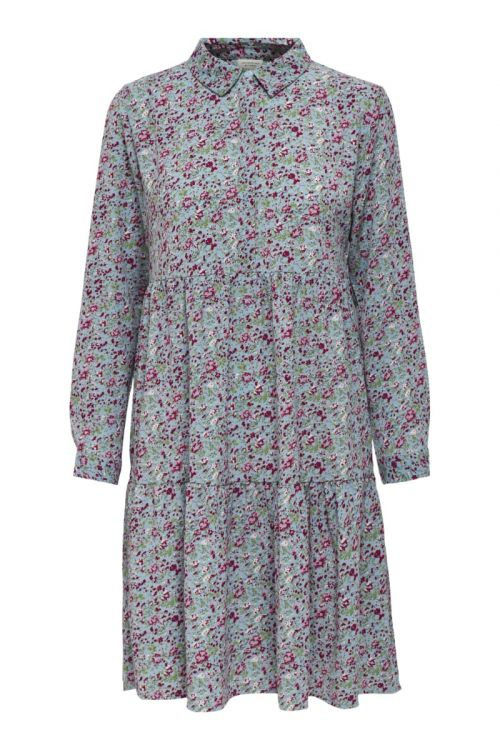 JDY - Kjole - JDY Piper L/S Shirt Dress - Baby Blue