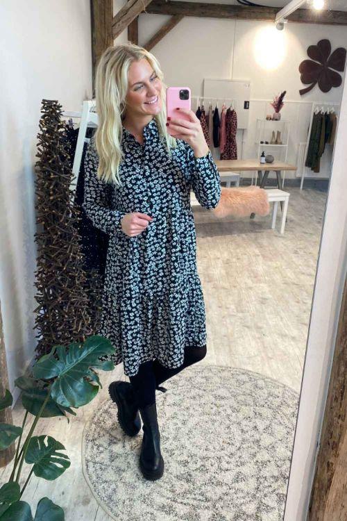 Jacqueline De Yong - Kjole - Piper L/S Shirt Dress - Black