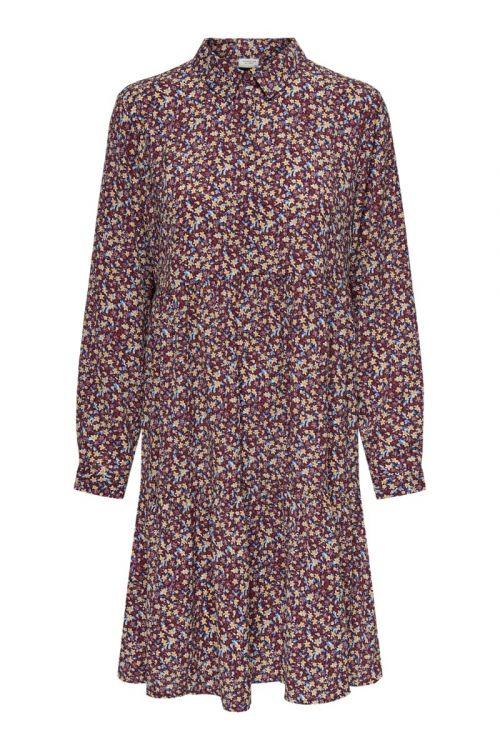 JDY - Kjole - JDY Piper L/S Shirt Dress - Rhododendron