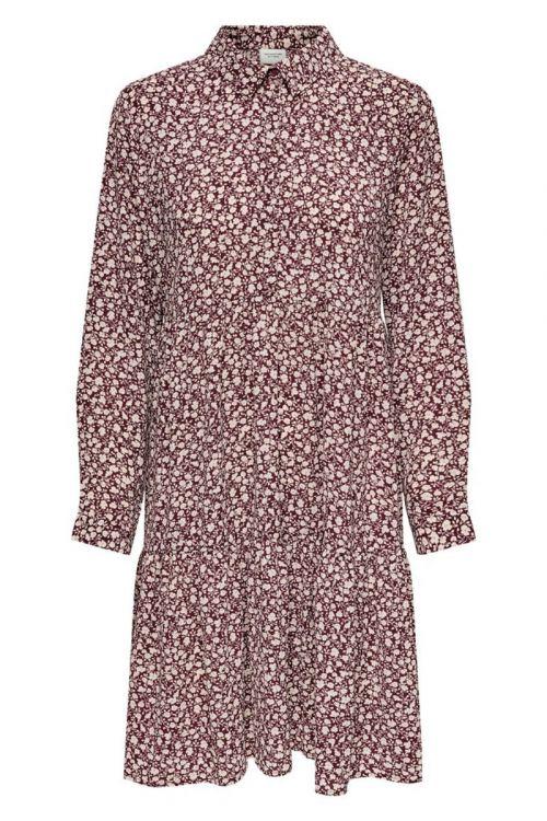 Jacqueline de Yong - Kjole - JDY Piper LS Shirt Dress - Zinfandel/Simple Flower