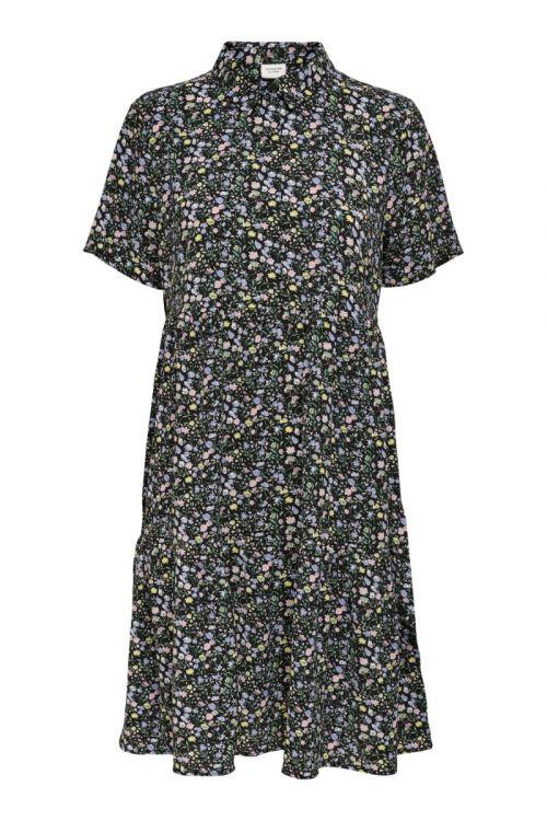 Jacqueline de Yong - Kjole - JDY Piper SS Shirt Dress - Black/Pop Color