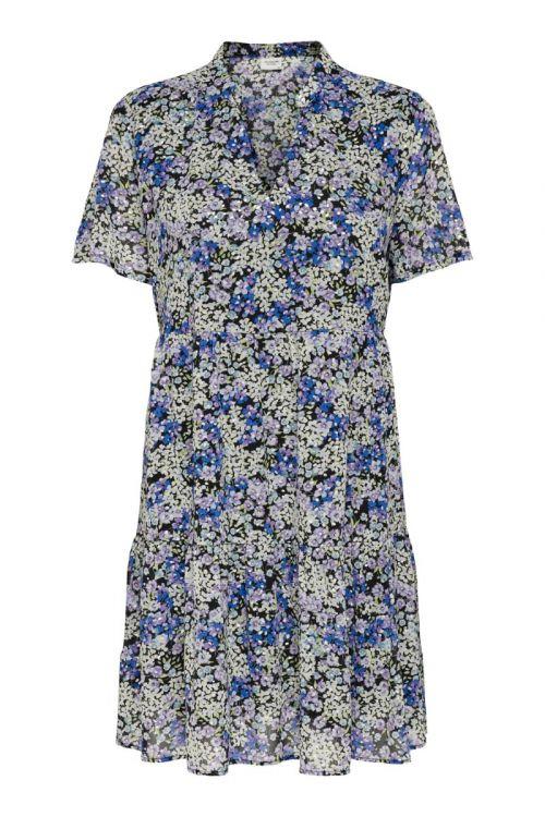 JDY Kjole Spring S/S Layer Dress Black Front