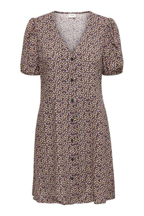 Jacqueline de Yong - Kjole - JDY Staar Life SS Shirt Dress - Black/Daisy Rose