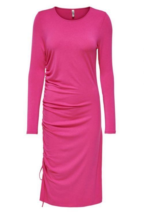 Jacqueline de Yong - Kjole - JDY Stoll LS Dress - Fuchsia Fedora