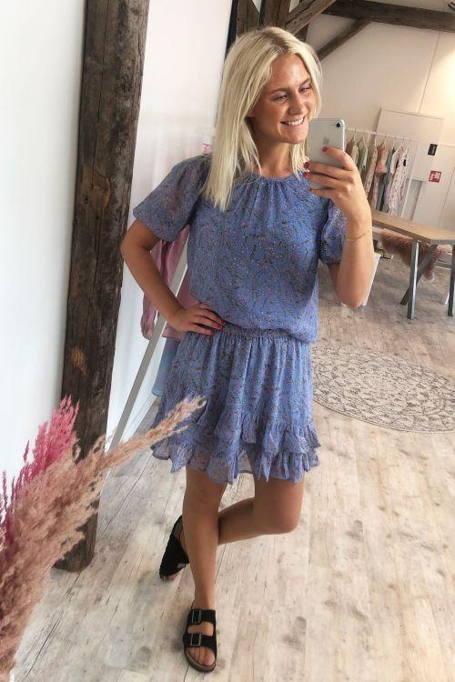 Jacqueline de Yong Nederdel JDY Nelly Jennifer Frill Skirt Vista Blue Hover