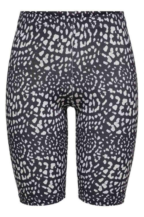 JDY - Shorts - JDY Rossy Biker Shorts - Black/Leo