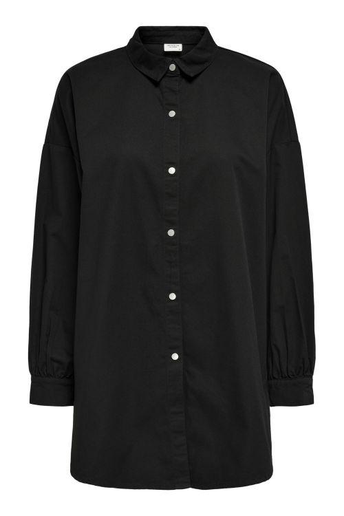 Jacqueline de Yong Skjorte JDY Miami L/S Oversized Shirt Black Front