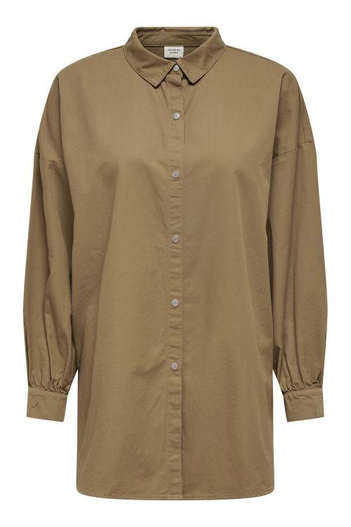 Jacqueline de Yong Skjorte JDY Miami L/S Oversized Shirt Toasted Coconut Front