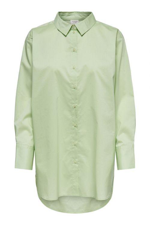 JDY Skjorte JDY Mio L/S Long Shirt Pastel Green Front