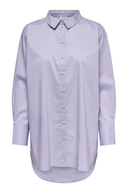JDY Skjorte JDY Mio L/S Long Shirt Pastel Lilac Front