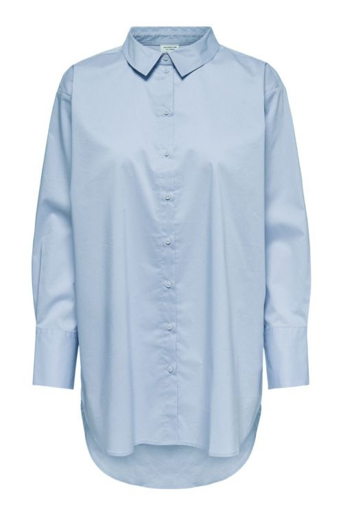 JDY - Skjorte - JDY Mio L/S Long Shirt - Skyway