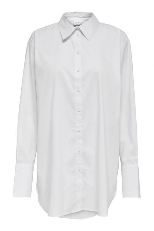 JDY Skjorte JDY Mio L/S Long Shirt White Front
