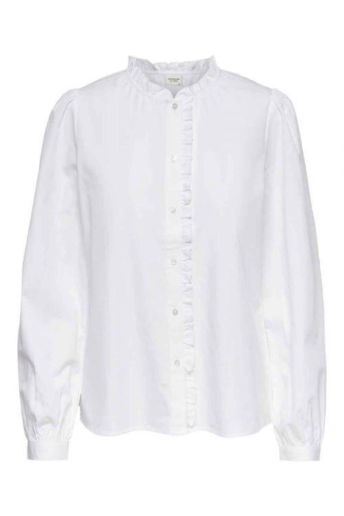 Jacqueline De Yong Skjorte Nuuk L/S Frill Shirt Cloud Dancer Front