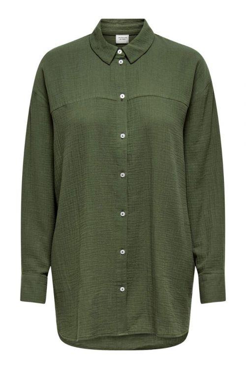 Jacqueline de Yong - Skjorte - JDY Theis Life LS Long Shirt - Kalamata