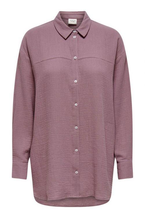 Jacqueline de Yong - Skjorte - Theis Life LS Long Shirt - Wistful Mauve