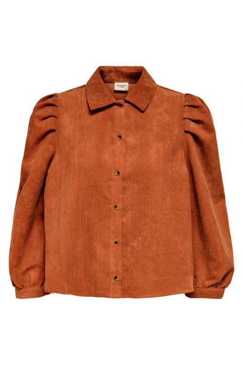 Jacqueline de Yong Skjorte JDY Ulla 3/4 Shirt Ginger Bread Front