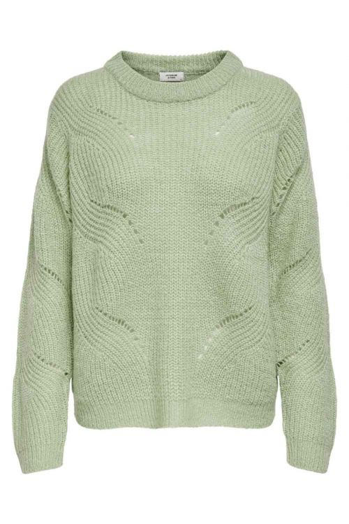 Jacqueline De Yong - Strik - New Daisy L/S Structure Pullo Knit - Swamp