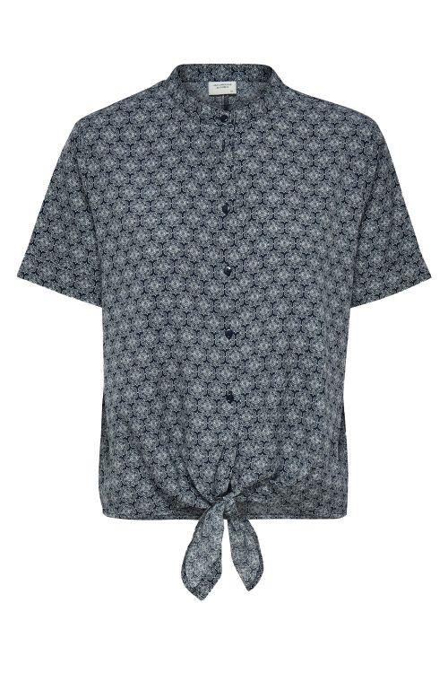Jacqueline de Yong T-shirt JDY Kamma S/S Shirt Navy Blazer/White Geo Front