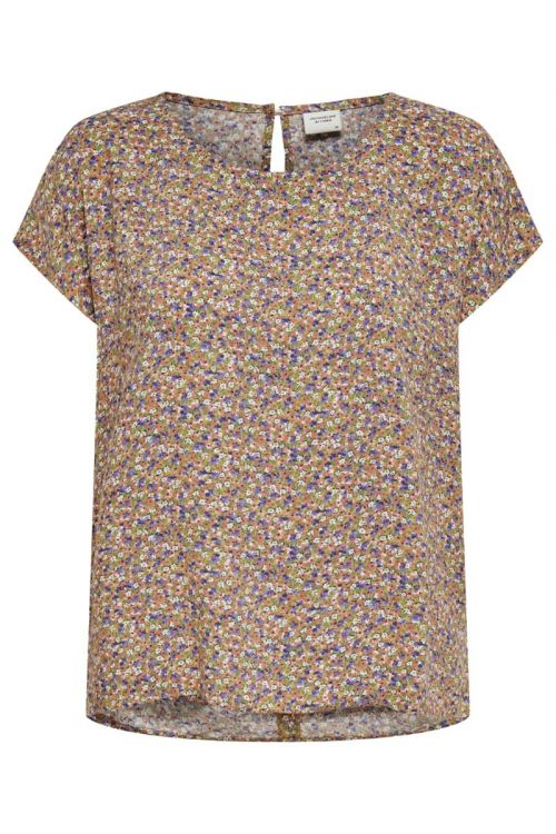Jacqueline De Yong T-shirt Staar Life SS Top Fall Leaf/Purple Front