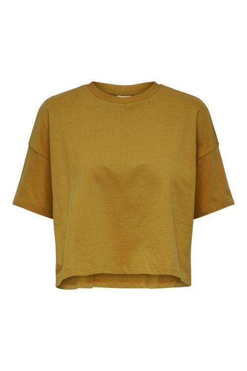 Jacqueline de Yong - T-shirt - JDY Story SS Top - Harvest Gold