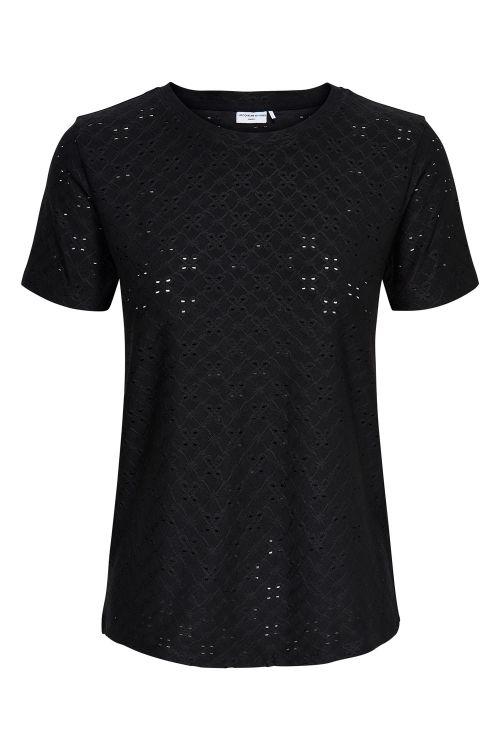 Jacqueline de Yong T-shirt JDY Cathinka S/S Tag Top Black Front