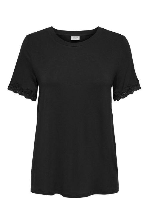 Jacqueline de Yong T-shirt JDY New Beijing S/S Top Black/Lace Front