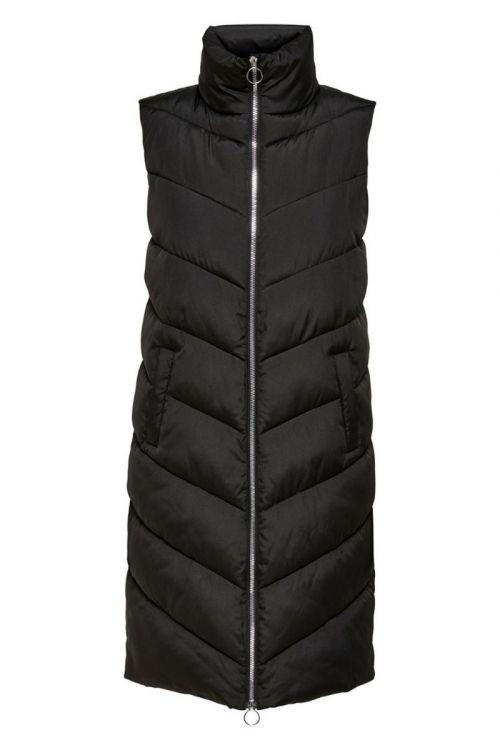 Jacqueline De Young - Vest - JDY Finno Long Padded Waistcoat - Black