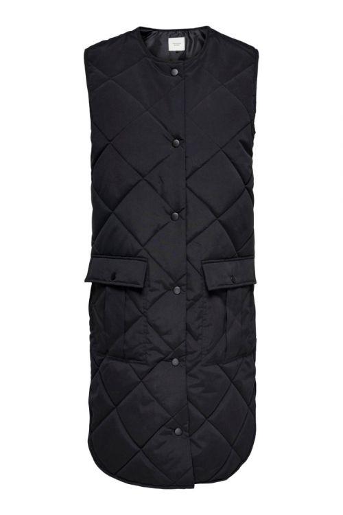 JDY Vest JDY Diana Augusta Quilt Waistcoat Black Front