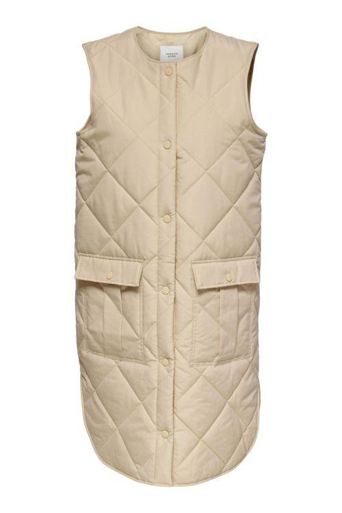 JDY Vest JDY Diana Augusta Quilt Waistcoat Smoke Gray Front
