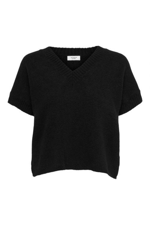 JDY - Vest - Rubi V-neck Vest - Black