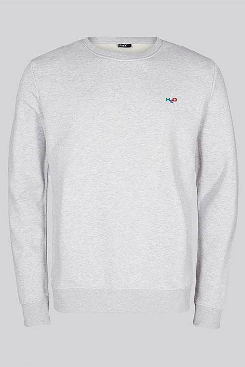 H2O - Sweat  Lind Logo Sweat O Neck  Light Grey Melange Front