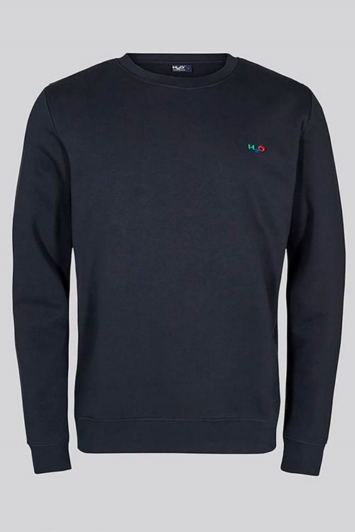 H2O  Sweat  Lind Logo Sweat O Neck Navy Front