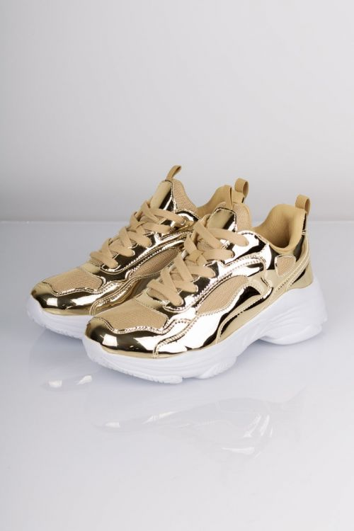 Lykke by Lykke Sneakers Josephine Chunky Sneakers Gold White Front