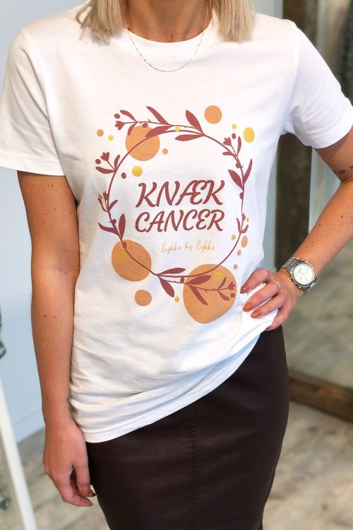 Lykke by Lykke T-shirt Knæk Cancer White Front