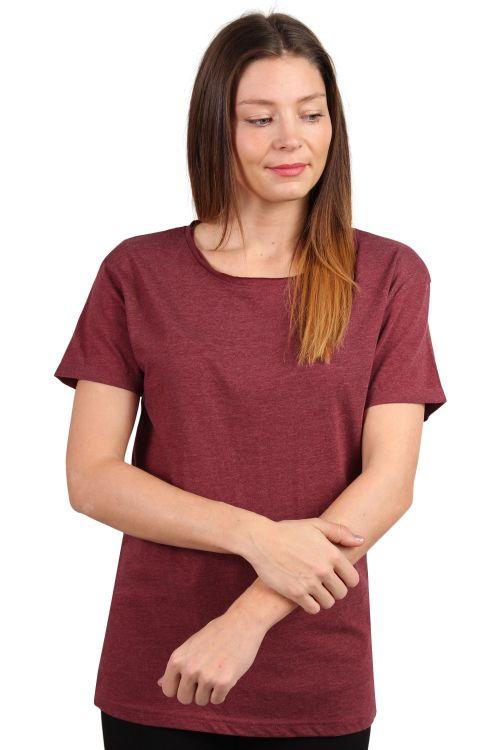 Lykke By Lykke - T-shirt - Raw Tee - Burgundy