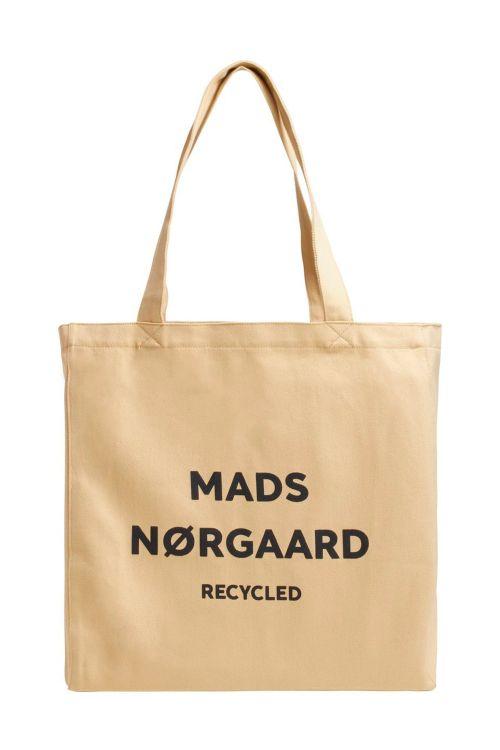 Mads Nørgaard Taske Recycled Boutique Athene Beige/Black Front