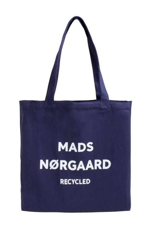Mads Nørgaard Taske Recycled Boutique Athene Navy/White Front