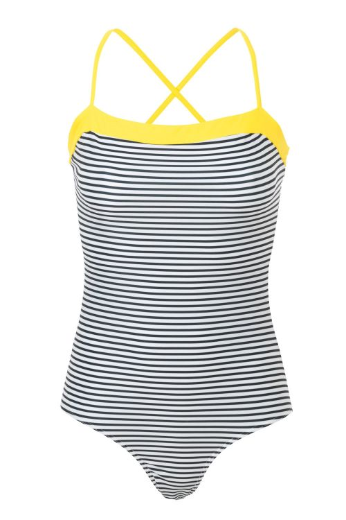 Mads Nørgaard Badedragt Ibiza Swimma Black/White/Soft Yellow Front