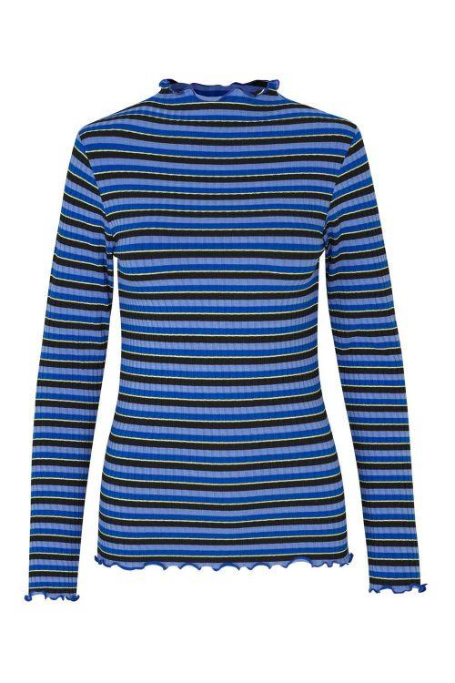 Mads Nørgaard Bluse 5x5 Sparkle Stripe Trutte Blue Multi Front
