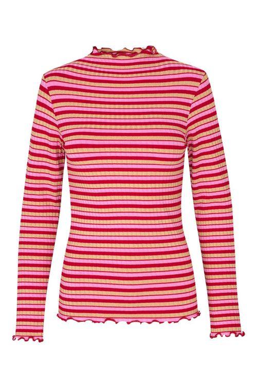 Mads Nørgaard Bluse 5x5 Sparkle Stripe Trutte Red Multi Front