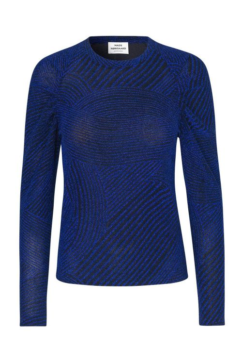 Mads Nørgaard Bluse Amazing Glitter Betine Navy Front