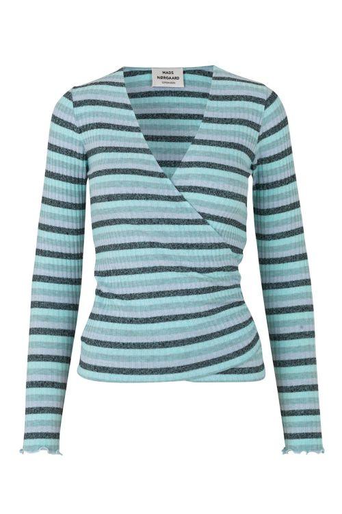 Mads Nørgaard Bluse Super Stripy Tamolly Multi Blue Front