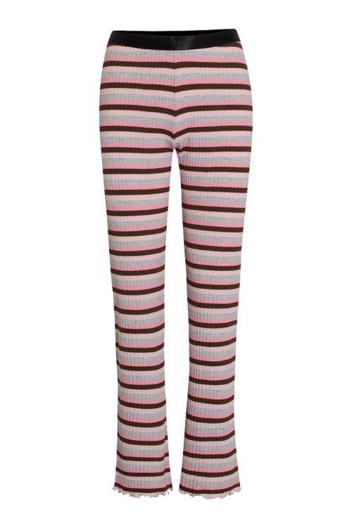 Mads Nørgaard - Bukser - Super Stripe Lonnie Pants - Multi Candy Pink
