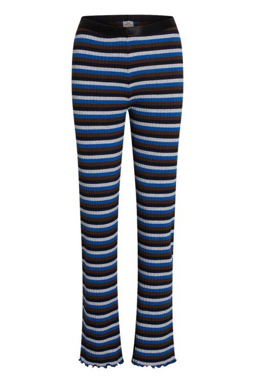 Mads Nørgaard - Bukser - Super Stripe Lonnie Pants - Multi Princess Blue