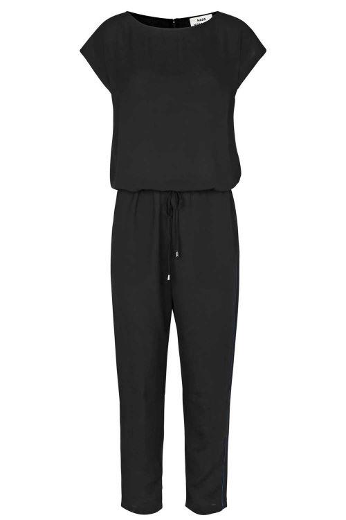Mads Nørgaard  Jumpsuit  Crepe Georgette Cavi Pipe  Black Blue Front